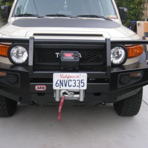 110208 New ARB bumper with my older 9.5XP Warn winch with different perspective.