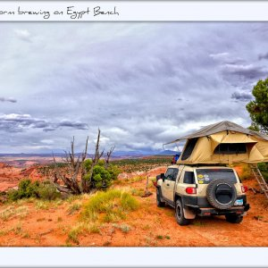 Camping at Egypt Bench, Escalante National Monument, Utah, summer 2012