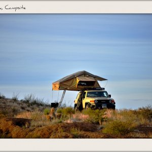 Tent, Truck, Campsite, from the Guale 2 campsite, Big Bend Ranch state park, November 2012