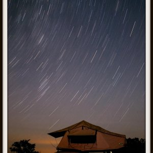 Star Trails, Golden Staircase campsite, Canyonlands national park, Utah, summer 2012