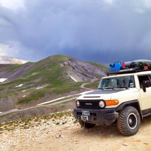 We made it!  Imogene Pass, Colorado, July 2014
