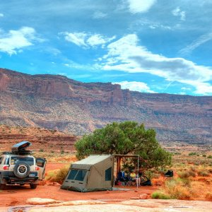 Camping on the White Rim Trail, Canyonlands national park, July 2014