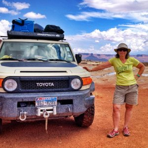 Janet, the one who puts up with all this, from the White Rim Trail, July 2014