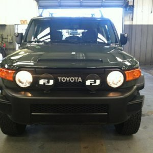 FJ Factory Aux Bumper Lights with covers