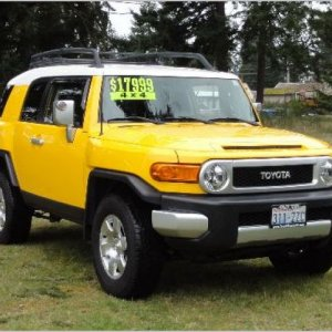 2007 Toyota FJ Cruiser bought in March of 2012