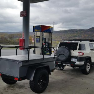 Pit stop on the Pennsylvania turnpike after picking up my new Manley ORV Utility trailer