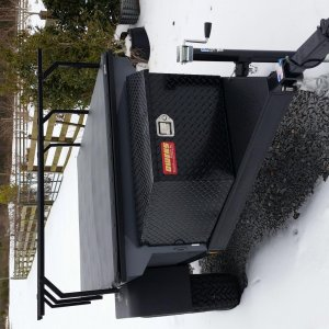 Manley ORV Utility Trailer new tongue tool box