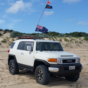 FJ on the beach
