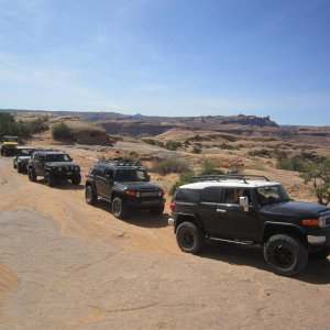 Poison Spider Mesa - note how we had 3 black FJs, funny coincidence.